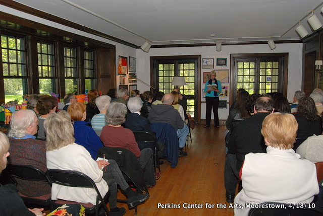 Lisa Tracy reading at Perkins Center for the Arts, Moorestown, N.J.