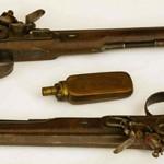 Dueling pistols that belonged to Aaron Burr.