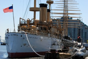 The Olympia, Adm. Dewey's flagship, Penn's Landing, Philadelphia