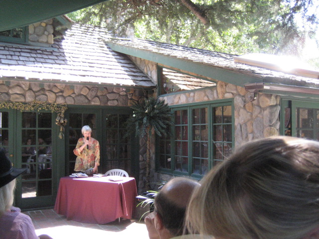 Lisa Tracy at reading in California.